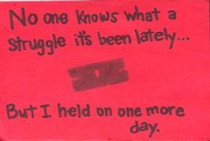 A secret from PostSecret (not mine but may as well be)